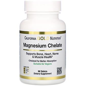 California Gold Nutrition, Magnesium Chelat, 210 mg, 90 Tabletten