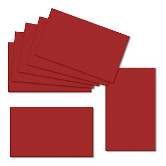 Chilli Red. 60mm x 100mm. Place Card. 235gsm Card Sheet.