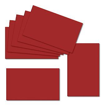 チリレッド。60mm x 100mm. 235gsmカードシートのカードを置きます。