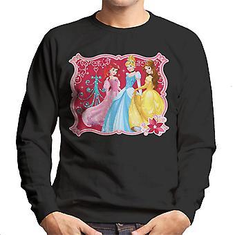 Disney Weihnachten Prinzessinnen gerahmt Design Männer's Sweatshirt