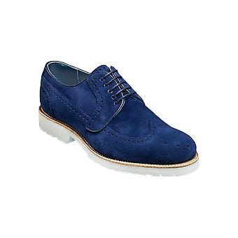 Barker Hawk – Ante de la Marina ( Navy Suede) Mens Handmade Leather Derby ? Zapatos Barker