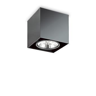 Lampada a soffitto montata in superficie leggera interna 1 nero, GU10