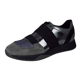 Geox D Suzzie D Womens Casual Slip on Trainers / Shoes - Metallic Grey