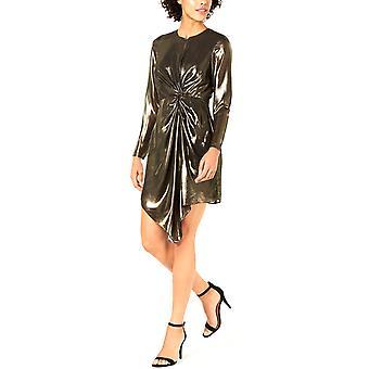 Lucy Paris | Cara Twist-Front Metallic Dress