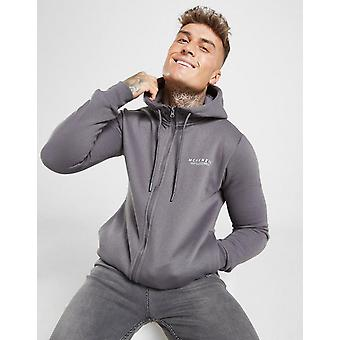 New McKenzie Men's Essential Zip Through Hoodie Grey