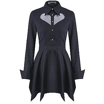 Dark In Love Mesh Heart Gothic Mini Dress