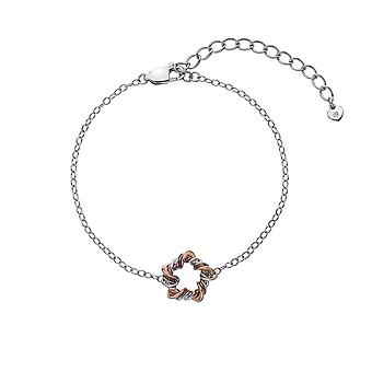 Hete diamanten Sterling Zilver Rose goud plaat Vine accenten armband DL600