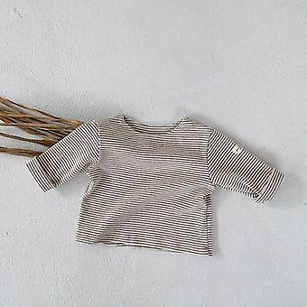 Newborn Baby Boys T-shirt Spring Autumn Cotton Bottoming Shirts- Toddler Girls Striped Clothes Infant Fashion Tops Tees
