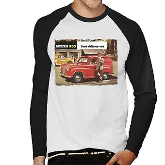 Austin A35 5cwt Delivery Van British Motor Heritage Men's Baseball Long Sleeved T-Shirt