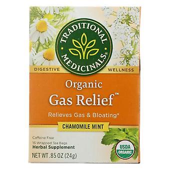 Traditional Medicinals Teas Organic Gas Relief Tea, 16 BAGS