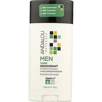 Andalou Naturals Men Herbal Deodorant, 3.25 Oz