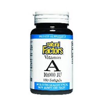 Natural Factors Vitamin A, 10,000 IU, 180 Softgels