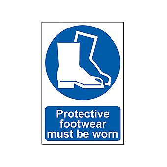 Scan Protective Footwear Must Be Worn - PVC 200 x 300mm SCA0016