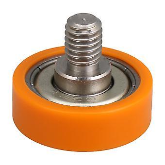 C2.5L8 Bearing Drawer Wheels M6 Shower Orange Pully Roller Flat Edge
