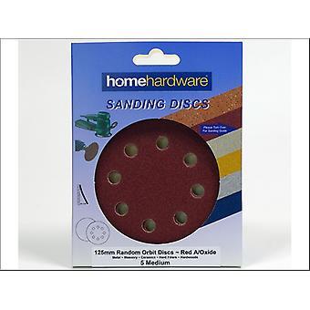 Home DIY (Paint Brushes) Hook & Loop Sanding Disc 125mm 8 Hole Medium x 5 008128