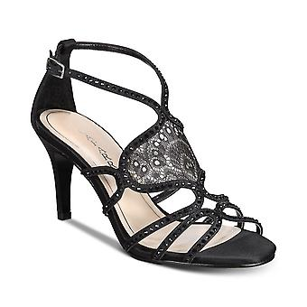 Caparros Womens Quantum Fabric Open Toe Ankle Strap Classic Pumps