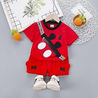 Summer Baby Clothes Suit Fashion Cartoon T Shirt Shorts Toddler Casual Clothing