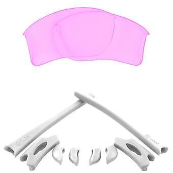 Polarized Replacement Lenses & Kit for Oakley Flak Jacket XLJ Pink & White Anti-Scratch Anti-Glare UV400 by SeekOptics
