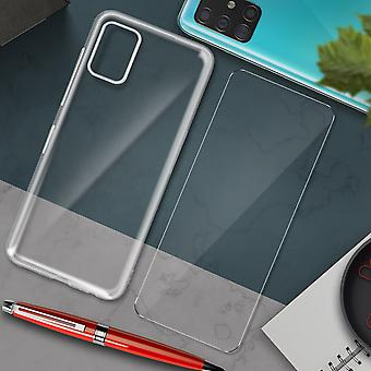 Galaxy A71 Hard Cover and 4Smarts Tempered Glass 9H Screen protector clear