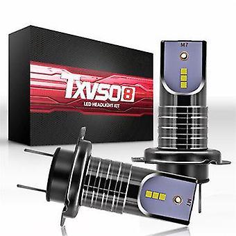 Txvso8 H7 55W 26000LM Auton LED Ajovalot Polttimo Sumulamppu IP68 Vedenpitävä 6000K
