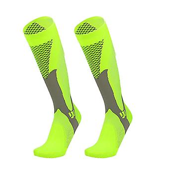 Men Women Compression Running Gym Socks Knee High Support Stockings Breathable