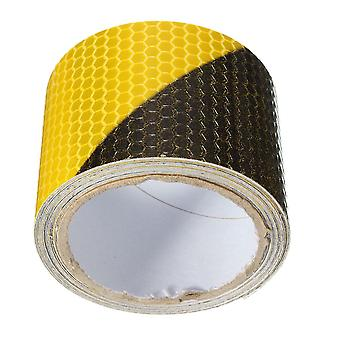 Black Yellow Reflective Safety Warning Conspicuity Tape, Film Sticker