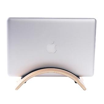 Superior Curved Wooden Stand Holder, For Tablet PC & Laptop(Coffee)