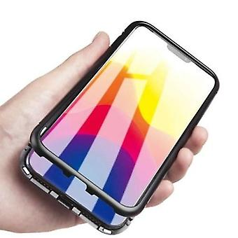 Magneto Magnetic Adsorption Case Clear Tempered Glass Black i-phone XS Max