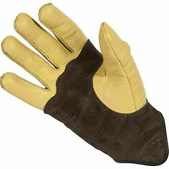 Spada Wyatt Leather Motorcycle Gloves Sand Touring Armoured