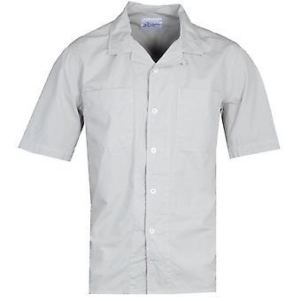 Albam Short Sleeve Revere Collar Grey Shirt
