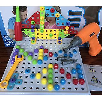 Children's Screw Drill, Puzzle Assembled - Lernspiel