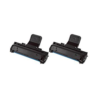 RudyTwos 2x Replacement for Samsung MLT-D1082S Toner Unit Black Compatible with ML-1640, ML-1641, ML-1642, ML-1645, ML-2240, ML-2241