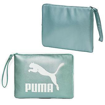 Puma Womens Prime Metallic Pouch Zip Up Clutch Bag Aqua Blue 075165 02 A90A