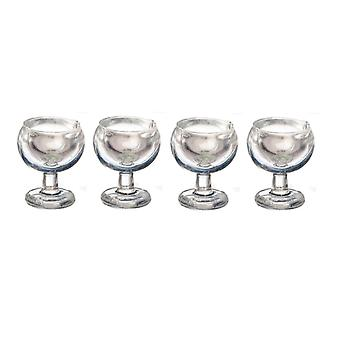 Dolls House 4 Large Red Wine Glasses 1:24 Half Inch Scale Dining Room Accessory