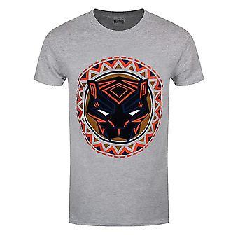 Black Panther Unisex Adults Logo In Circle Design T-Shirt