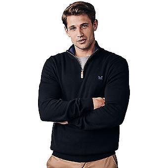 Crew Clothing Mens Classic Half Zip Pullover Sweatshirt