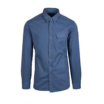 Belstaff Pitch Twill Long Sleeved Shirt Racing Blue