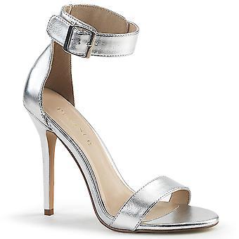 Pleaser Women's Shoes AMUSE-10 Slv Met. Le pu