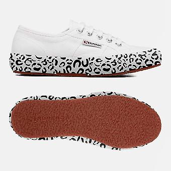 2750 Cot w printed foxing white leopard