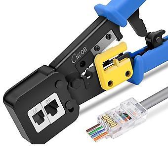 電話回線イーサネットケーブル用多機能圧着ツール