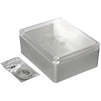 Hammond RP1285C Watertight ABS Enclosure 186 x 146 x 75 Clear Lid Grey