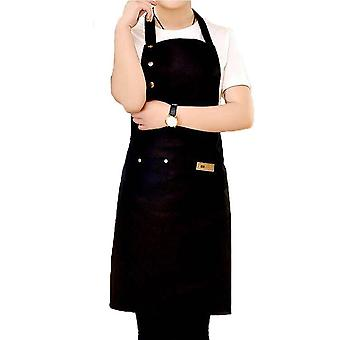 Adjustable Waterproof Stain-resistant With Two Pockets Kitchen Chef Apron