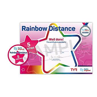 ASA zwemmen Engeland Rainbow afstand zwemmen Award - 5M