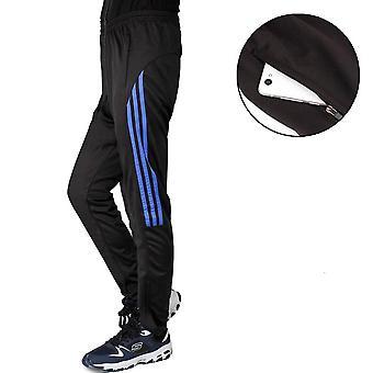 Men's Athletic Hose, Fußball Training Laufhose mit Reißverschluss Radfahren