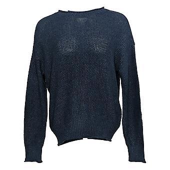 Jessica Simpson Women's Sweater Long Sleeve Maritime Blue