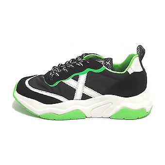 Scarpe Munich Sneaker Unisex Wave 53 Pelle/ Tessuto Nero Us21mu04 8770053