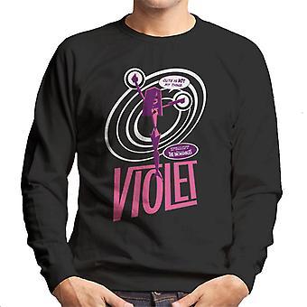 Pixar The Incredibles Violet Cute Is Not My Thing Men's Sweatshirt
