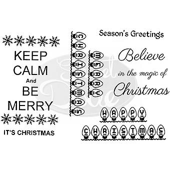 Sweet Dixie - Keep Calm And Be Merry Clear Stamp