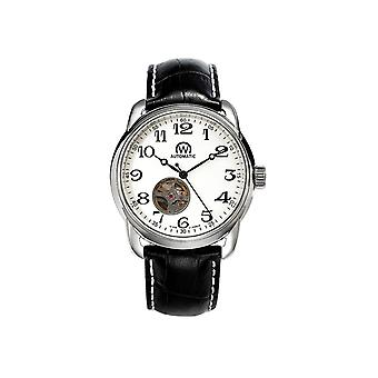 Watch Chronowatch 'apos;History'apos; Automatic White Leather Bracelet - HY5240C3BC1