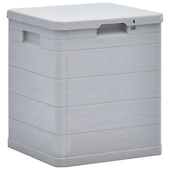 vidaXL Puutarha Säilytyslaatikko 90 L Vaaleanharmaa